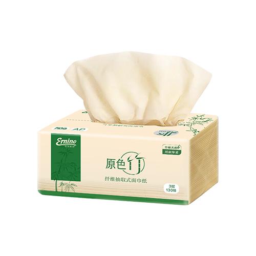 原色竹纤维抽取式面巾纸